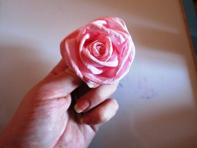 Цветы из салфеток розы для начинающих