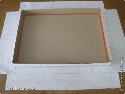 Мастер класс коробка обтянутая тканью