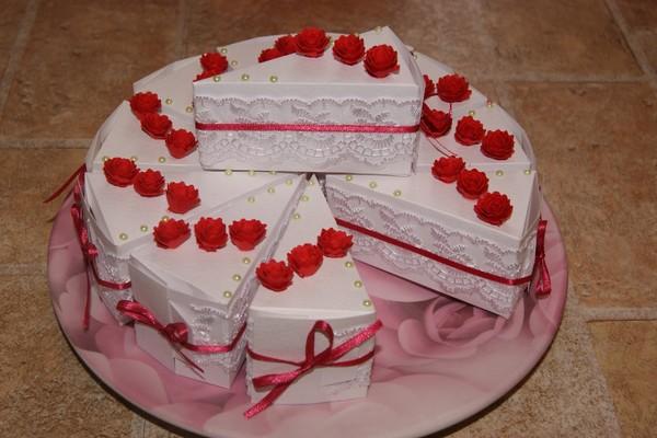 Мастер-класс «Коробочка в виде кусочка торта» / Скрапбукинг / В 15