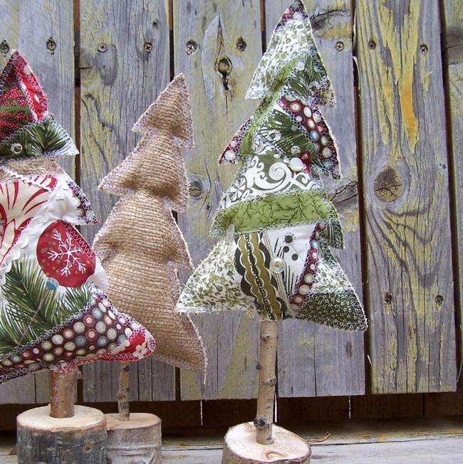Как сделать цветы из ткани своими руками для елки