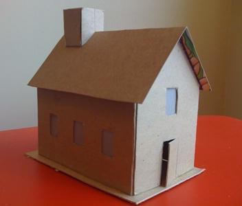 Как из картона сделать макет домика