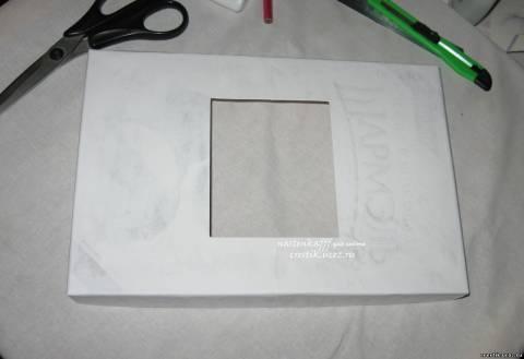 Как сделать рамку своими руками из коробки от конфет