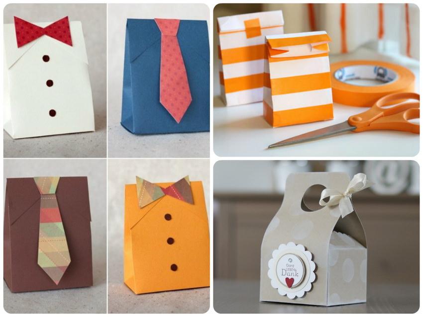 Пакетик из бумаги для подарка своими руками