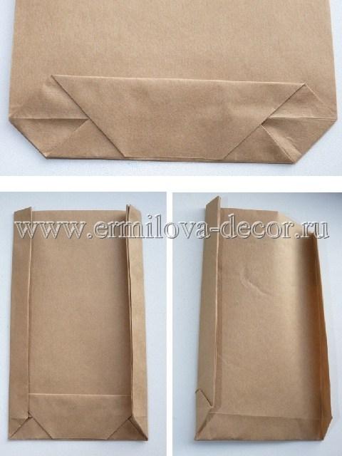 Как сделать бумажный пакет своими руками фото