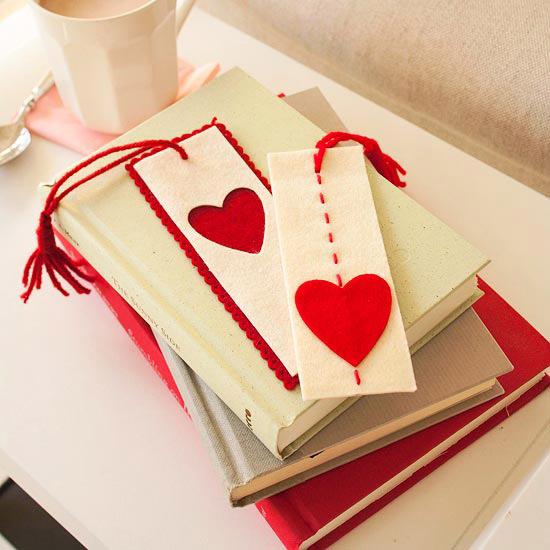 закладка своими руками - подарок в день святого Валентина