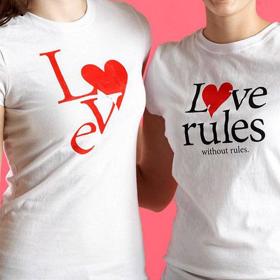 парные футболки к дню влюбленных