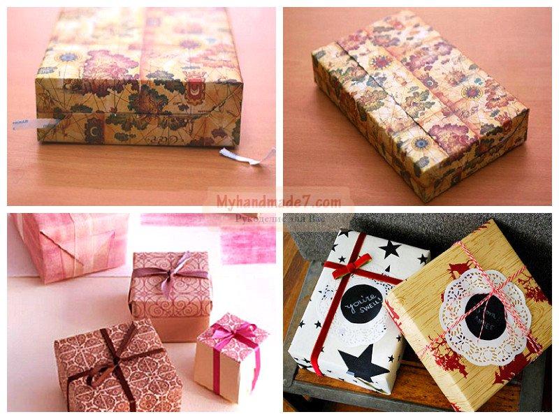 Как красиво упаковать подарок с помощью бумаги 38