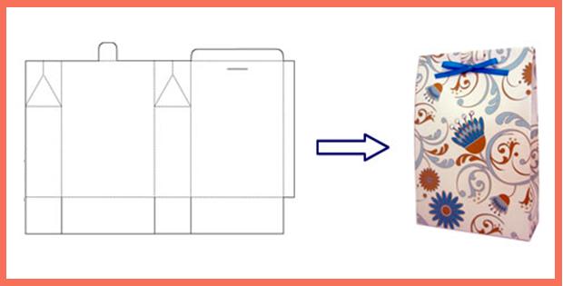Пакет из бумаги своими руками схема