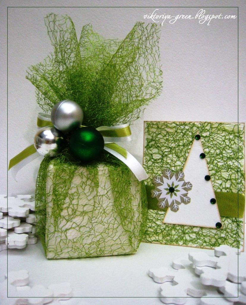 Новогодняя подарочная упаковка своими руками 12