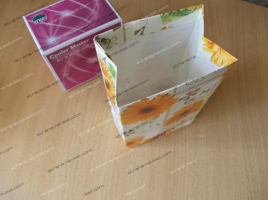 Как из оберточной бумаги сделать пакет из