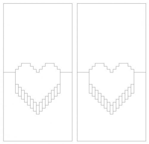 Шаблон для объемной открытки