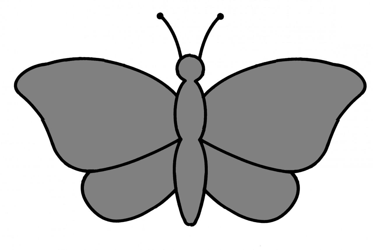 """Трафарет """"Бабочка"""". Поделки и самоделки."""