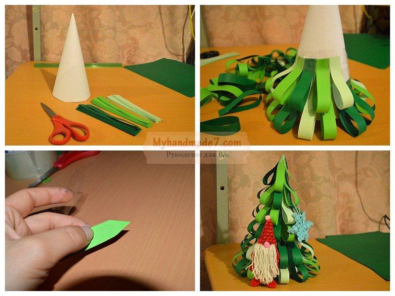 Как сделать поделку елку из картона и бумаги - MSP-lider.ru