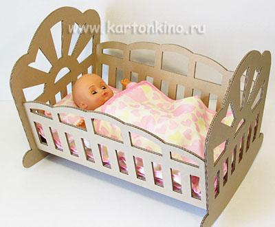 Кровать для куклы своими руками из картона видео