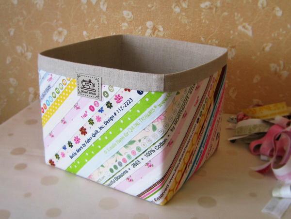 Коробка из картона и ткани своими руками