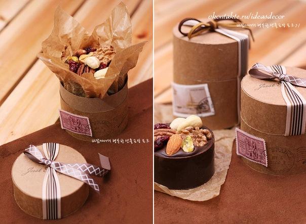 Круглая коробка своими руками для подарка