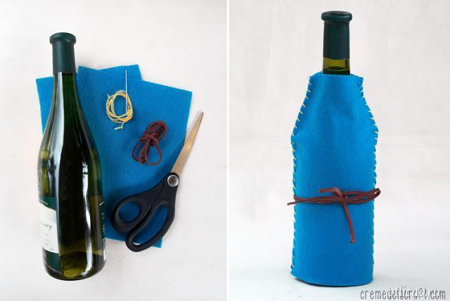 Как быстро оформить бутылку в подарок