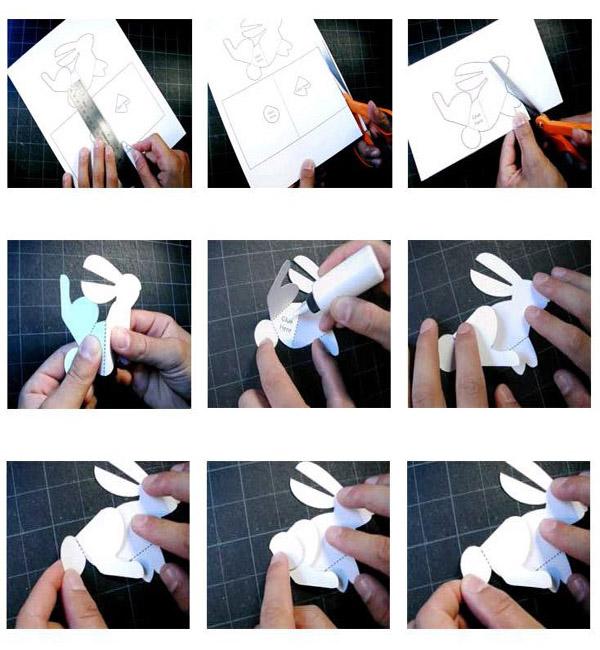 Как сделать зайца из бумаги объемного