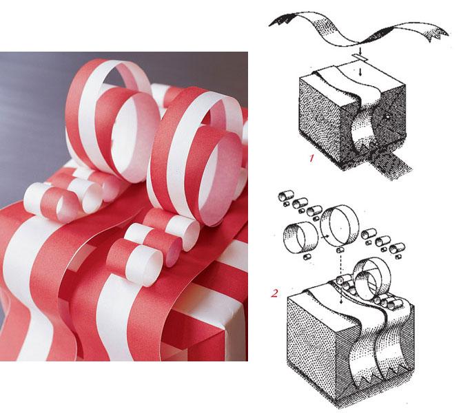 Как сделать бант из подарочной бумаги схема 5