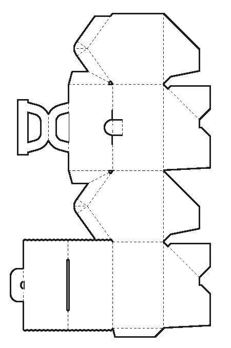 Кукольные домики из коробки схемы