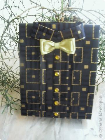 Коробочка рубашка для подарка
