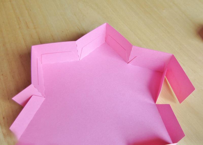 Как сделать коробочку-звезду из бумаги