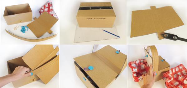 Как сделать корзинку из коробки своими руками