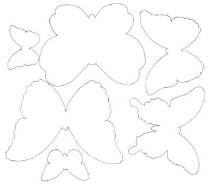 Распечатать трафарет бабочки на стену своими руками