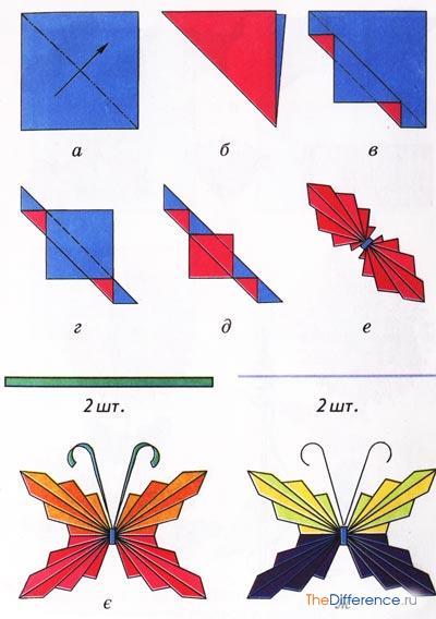 Оригами аппликация поделки из бумаги 179
