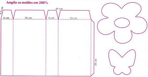 Пакет из бумаги шаблон