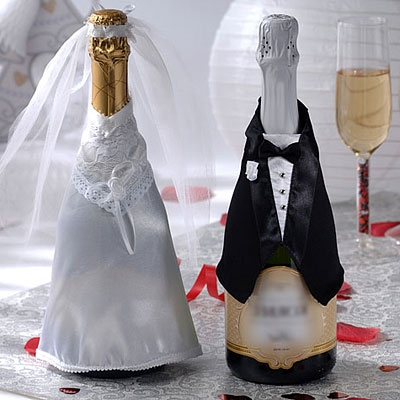 Бутылки шампанского на свадьбу одна бутылка