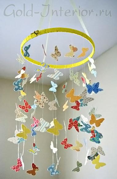 Как сделать мобили бабочки