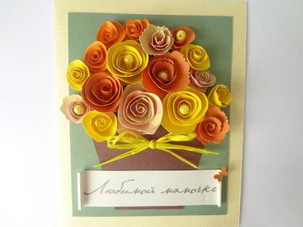 Открытки на день рождения бабушке своими руками из картона