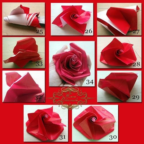 Роза из бумаги своими руками легко и быстро