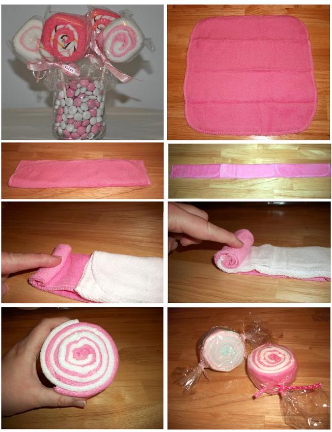 Оригинально сложить полотенце в подарок