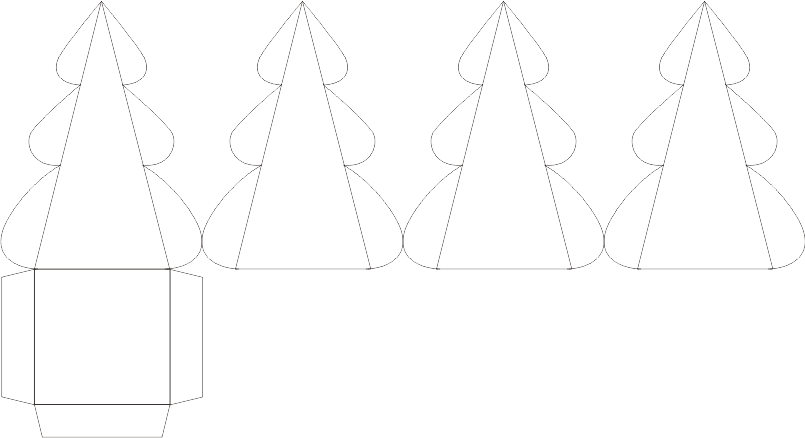Новогодние коробочки для подарков своими руками шаблоны