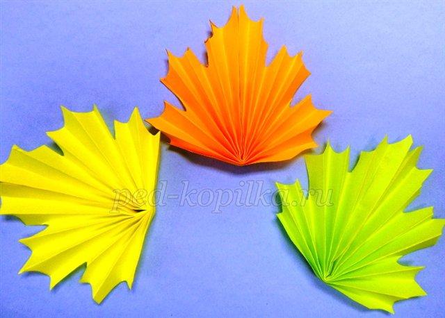 Как сделать объемные листья из бумаги своими руками - Danetti.Ru