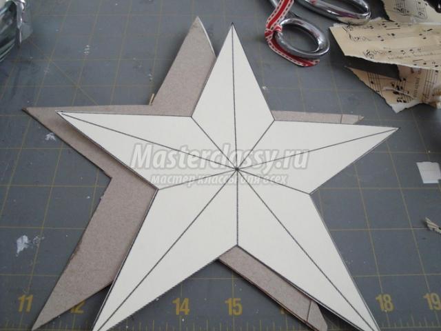 Звезда из бумаги на голову