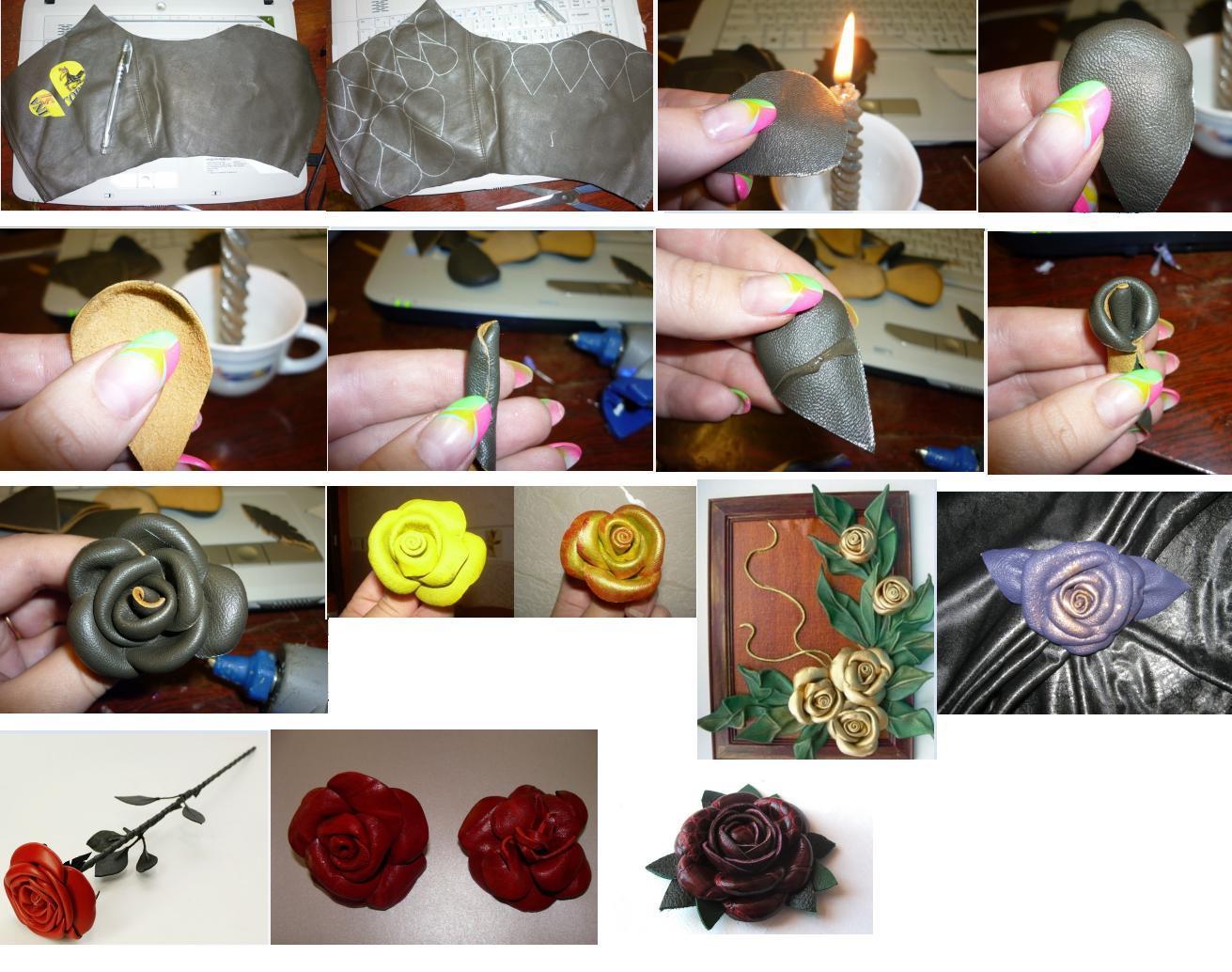 Изделия из кусочков кожи своими руками мастер класс