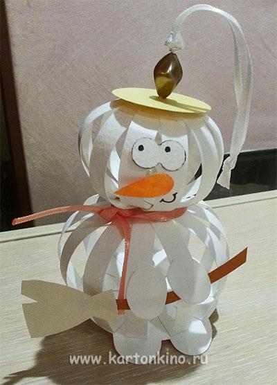 Как сделать снеговика своими руками в домашних условиях из бумаги - Модная мама