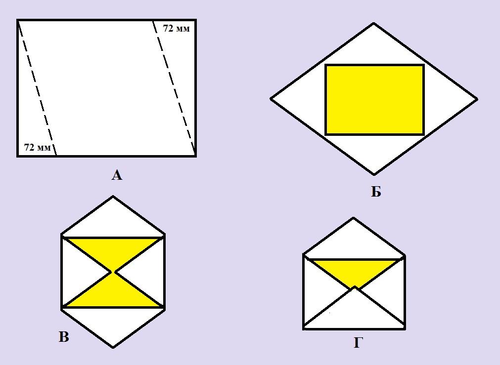 Как самим сделать конверт из бумаги а4