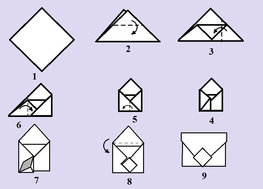 Как сделать из бумаги большой конверт