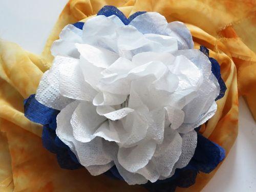 Цветы из салфеток своими руками фото как