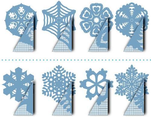 Как сделать бумажные снежинки на новый год