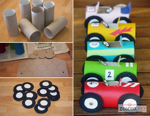 Креативные машины-поделки из бумаги