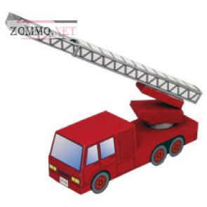 Пожарная машина из бумаги(схема)