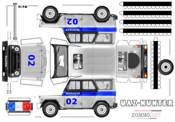 Полицейская машина УАЗ HUNTER