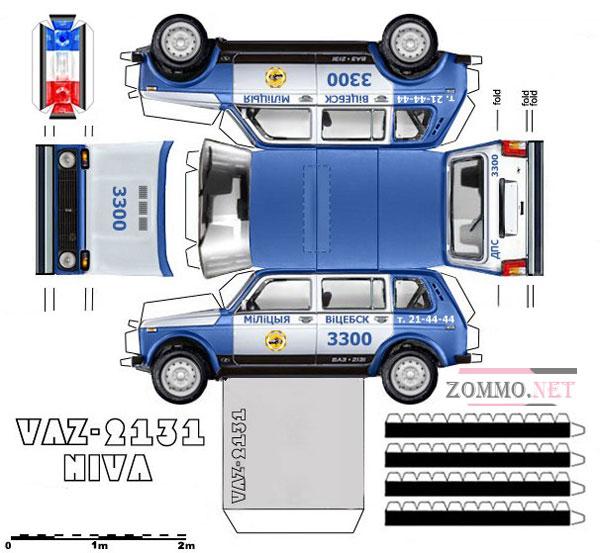 Полицейская машина ВАЗ 2131 Нива