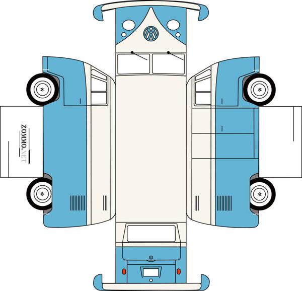 Volkswagen-T1 из бумаги