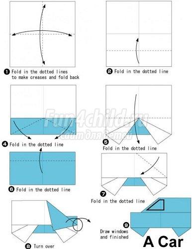 Как сделать из бумаги гонку